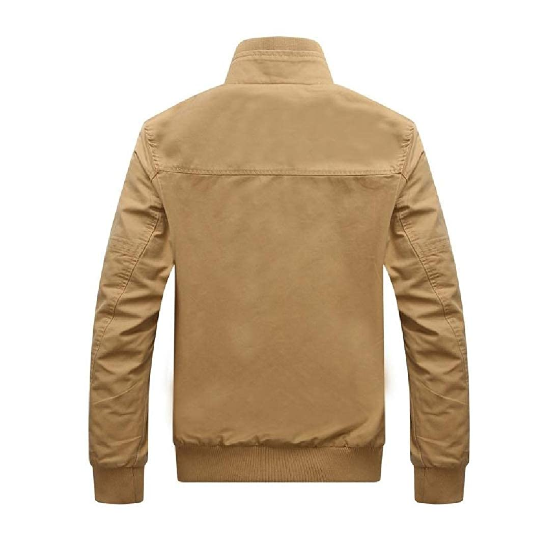 SportsX Mens Vintage Wash Fall Winter Full Zip Premium Pocket Jacket Coat
