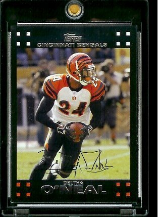 2007 Topps Football # 231 Deltha O'Neal - Cincinnati Bengals - NFL Trading Cards