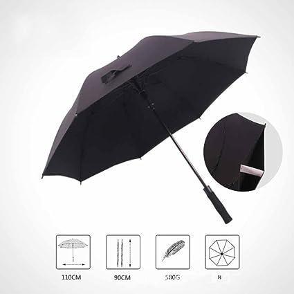 BiuTeFang Paraguas paraguas de mango largo tres personas de gran tamaño un paraguas a prueba de