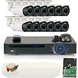 GW Security 16 Channel HD-CVI DVR (12) 2.8-12mm Motorized Zoom 2MP 1080P Outdoor Sony Cmos Video Security Camera System