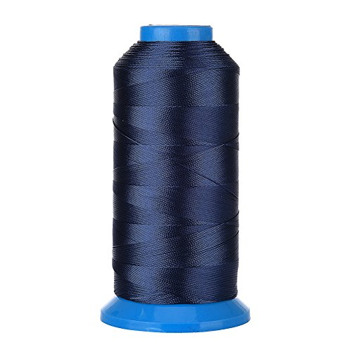 Selric [1500Yards / 20 Colors Available] UV Resistant High Strength Polyester ThreadII #69 T70 Size 210D/3 for Upholstery, Outdoor Market, Drapery, Beading, Purses, Leather (Navy Blue) ()