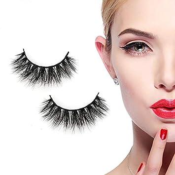 d7526353459 Amazon.com : Long Cross 3D Mink Eyelashes Makeup Natural Thick Strip Lashes,  Veer Siberian Fur 100% Hand-made False Eyelash 1 Pair : Beauty