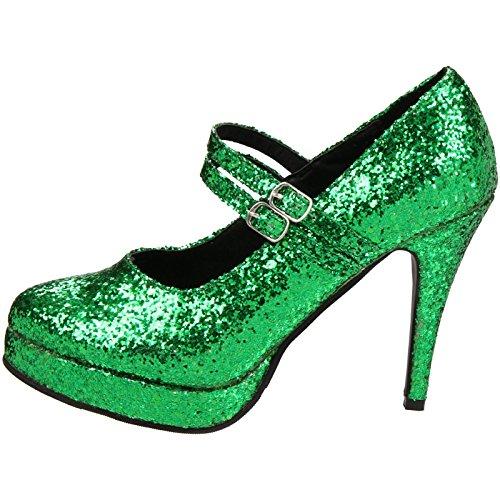 Ellie Shoes Women's 421-Jane-G Maryjane Pump,Green Glitter,8 M US ()