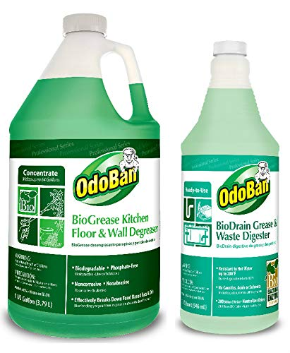 Kitchen Floor Degreaser New Amazon OdoBan Professional Cleaning BioGrease Kitchen 1186 1