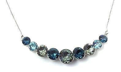 dd7aa2df068c0 Buy UPSERA Fashion Bib Necklace Made with Swarovski Crystals ...
