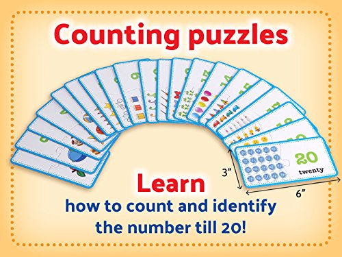 3-in-1 Educational Puzzles for Kids Toys Gift Set. 50 Pieces Puzzle for Boys/Girls Preschool Children, Toddler Ages, 3, 4, 5 Up-2 8-year-old. Learning, Counting, Spelling, Numbers, Community Helpers Photo #3