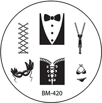 STAMPING-SCHABLONE # BM-420 (BM420) °° corsé, para confeccionar ...