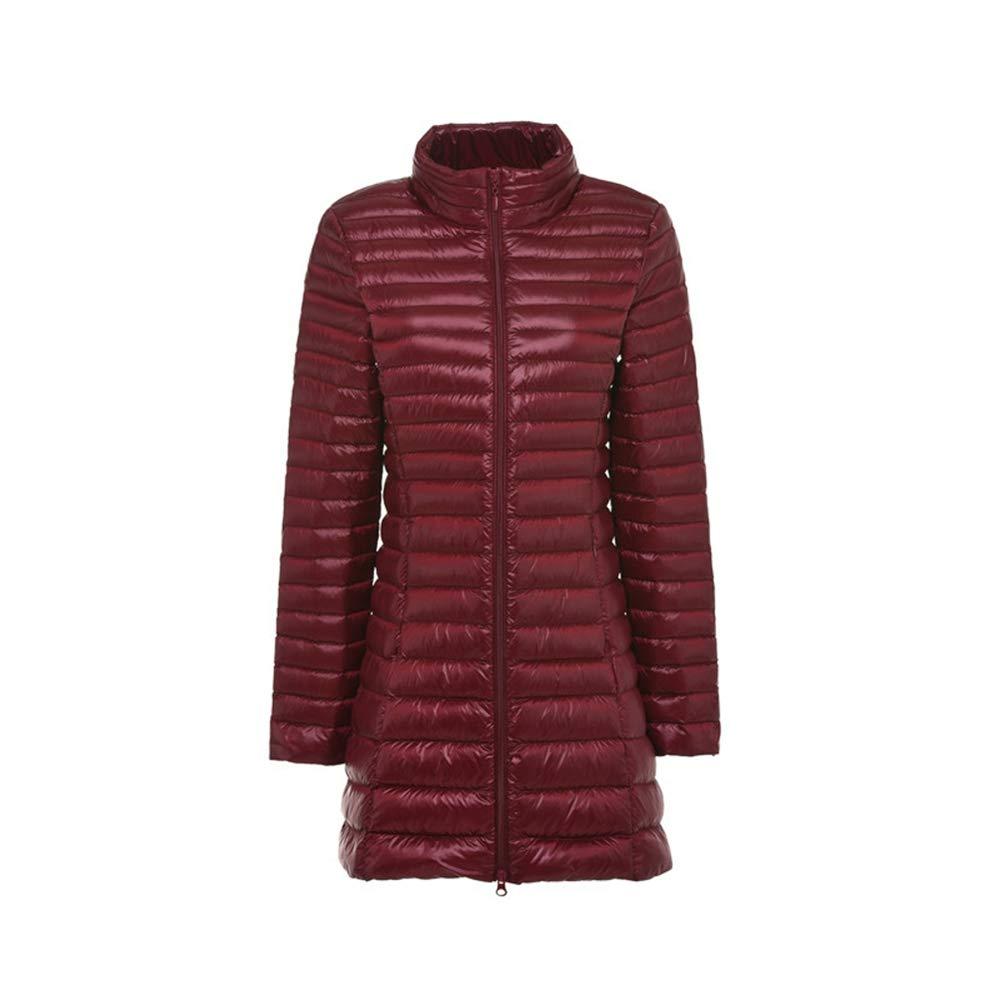 Loozo Winter-Dame Größe Stehen Kragen Lange Schlanke Abnehmen 90% Entendaunen Jacke