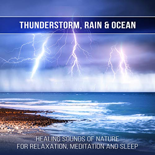 Thunder With Ocean Waves Amp Soft Rains Thunderstorm