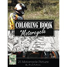 "Motocycle Biker Grayscale Photo Adult Coloring Book, Mind Relaxation Stress Relief: Just added color to release your stress and power brain and mind, coloring book for adults and grown up, 8.5"" x 11"" (21.59 x 27.94 cm)"