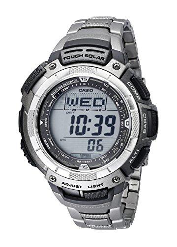 Casio Men's PAW1100T-7V Pathfinder Triple-Sensor Titanium Bracelet Watch (Watch Sport Protrek Casio)