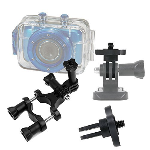 DURAGADGET Durable Vivitar Action Camera Handlebar Mount High Quality Bike Handlebar Mount For NEW Vivitar DVR785HD-BLU 5MP Pro Waterproof Action Camcorder with Case and Mounts Video Camera with 2-Inch LCD Screen & Vivitar DVR995WHD-GRP-IT Camscope numriq