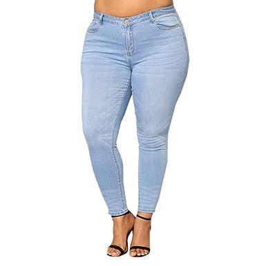 7fe8459f5 POQOQ Jeans Pants Trousers Women Plus Size Ripped Stretch Slim Denim Skinny  High Waist