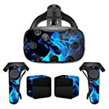 MightySkins Protective Vinyl Skin Decal for HTC Vive wrap cover sticker skins Blue Flames