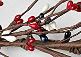Factory Direct Craft 54 Inch Long Americana Pip Berry Garland for 4th of July and Patriotic Decorating