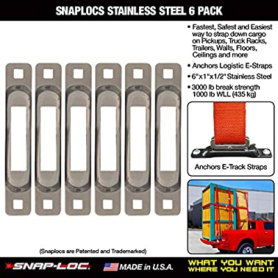 SNAPLOCS STAINLESS 6 PACK E-Track Single strap anchors: Automotive