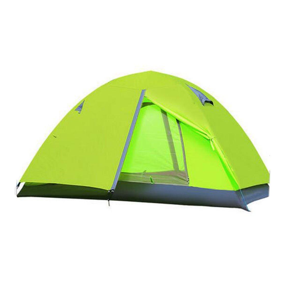 TZQ Freien Doppel Campingzelte Multifunktional Regen Sonne Zelte,Grün