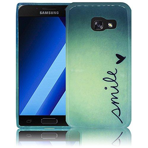 Samsung Galaxy A3 2017 Camuflaje Funda protectora de silicona Funda protectora suave Funda protectora contra el parachoques Funda protectora para teléfono móvil Funda protectora para teléfono móvil Fu SonreírSonreír
