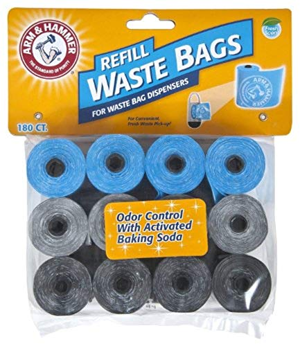 Arm & Hammer Easy-Tear Disposable Waste Bag Refills Assorted Colors Various Multi-packs Available (Diaper Cat Dog)