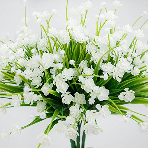 Artificial Flowers Fake Outdoor Faux Plants Greenery Daffodils