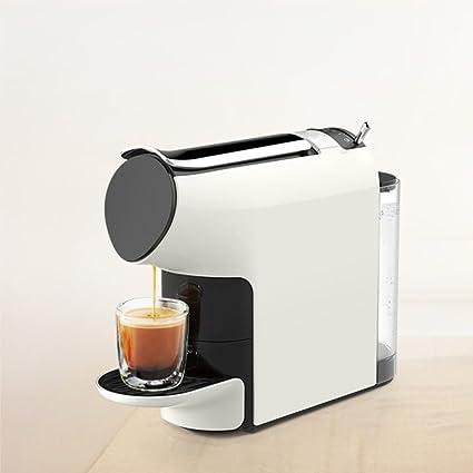 Casa- Maquina de cafe Capsule Coffee Machine Home Automatic Cafetera Blanca