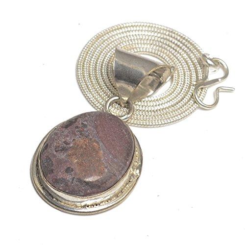 Rhodochrosite 925 Silver Plated Fashion Pendant,Chain Jewelry-P30122017 (Rhodochrosite Pendant Set)