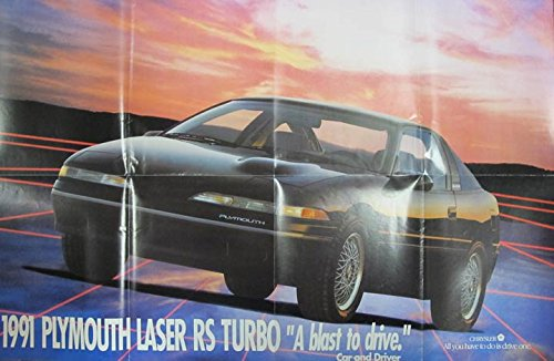 Amazon.com: 1991 Plymouth Laser RS Turbo Brochure Canada: Entertainment Collectibles
