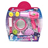 Girls Beauty Salon Toy Set w Dryer Mirror Hair Brush and More
