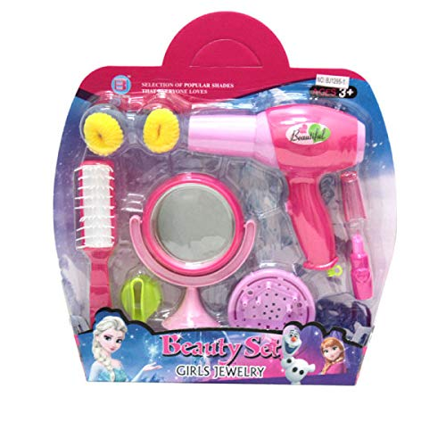 Girls Beauty Salon Toy Set w Dryer Mirror Hair Brush and More by Beauty Sets