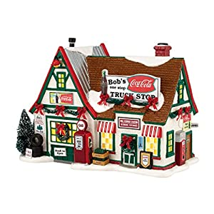 Department 56 Original Snow Village Bob's Truck Stop Lit House, 6.9-Inch - 51cOCrVDbgL - Department 56 Snow Village Bob's Truck Stop Lit House, 6.9 inch