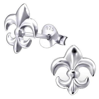 So Chic Bijoux C Boucles D Oreilles Fleur De Lis Lys Symbole Royaute