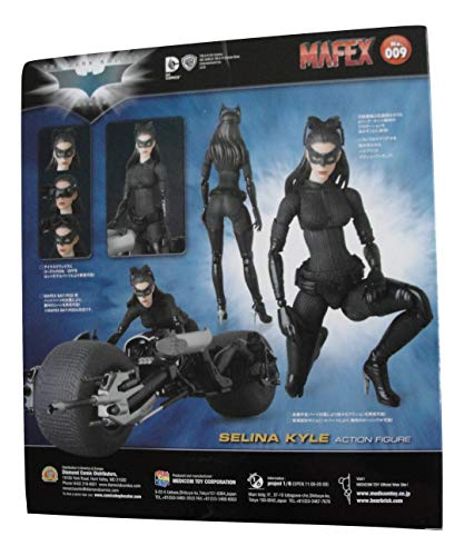 MAFEX #009 The Dark Knight Trilogy Selina Kyle Catwoman Action Figure Bundle with 1 Batman Movie Collector Card]()