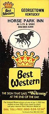 Best Western Horse Park Inn Georgetown, Kentucky Original Vintage Postcard
