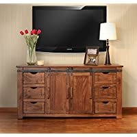 Crafters & Weavers Outstanding Quality Solid Parota Wood 70 Inch TV Stand