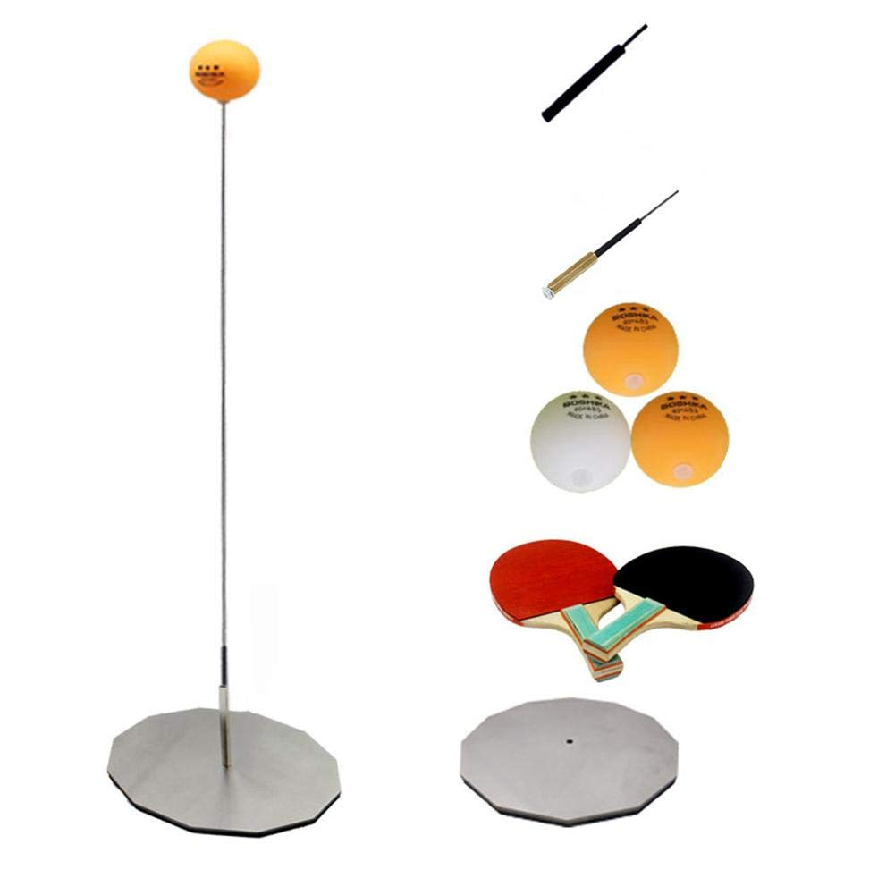 combnine Table Tennis Trainer, 60-90CM Sports Leisure Table Tennis Racket Base Set with Elastic Soft Shaft for Indoor or Outdoor by combnine