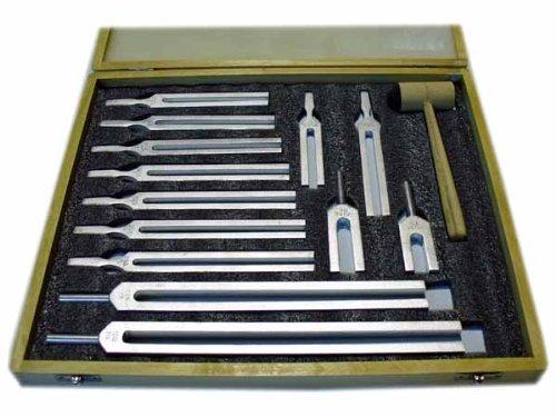 13 Piece Tuning Fork Set 100Hz low to 4096Hz high