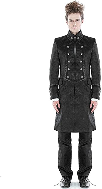 Steampunk Aristocrat Men Coat Black