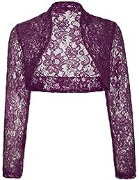 Belle Poque Women's Long Sleeve Floral Lace Shrug Bolero...