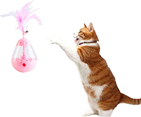 F Joys Juguete Interactivo para Gato, Pluma de Gato, comedero ...