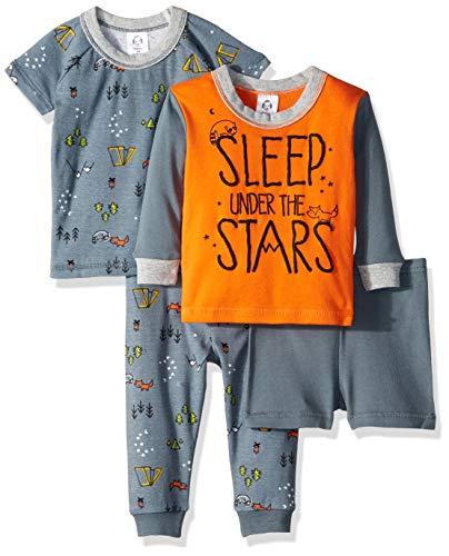Gerber Baby Boys 4-Piece Pajama Set, Camper, 3T