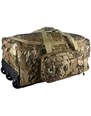 XWLSPORT Military Wheeled Deployment Bag Tactical Camo Heavy Duty Duffel Bag Water-Resistant Luggage Bag It's Suitable on Travelling, Camping, Business, Sporting Ect