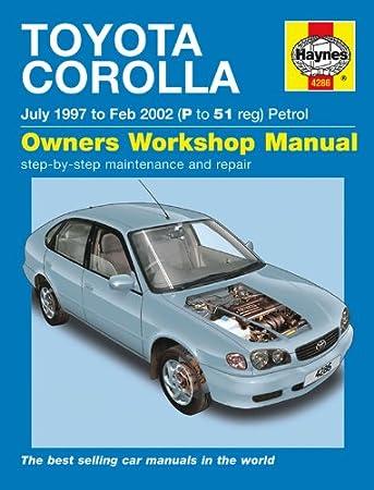 toyota corolla repair manual haynes manual service manual workshop rh amazon co uk 1998 Toyota Corolla Custom 1998 Toyota Corolla Custom