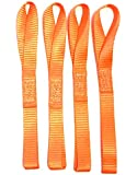 """12"""" Soft Straps 4-pack 2,300 LB Heavy Duty Orange Tie Down for Motorcycle ATV Snowmobile Dirt Bike Boats & Truck Cargo to Prevent Scratches"""