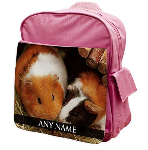 personalisierbar Guinea Pig Animal Pink Rucksack Rucksack 148