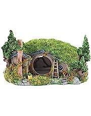 OMEM Reptile Hideout Hobbit House, Hamster, Tortoise, Gecko, Snake Hides Artificial Plant Rock, Humidified Habitat Decoration