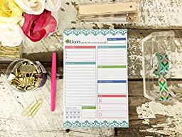 bloom daily planners Planning System Tear Off To Do Pad - Teal Daily Planner To Do Pad 6\