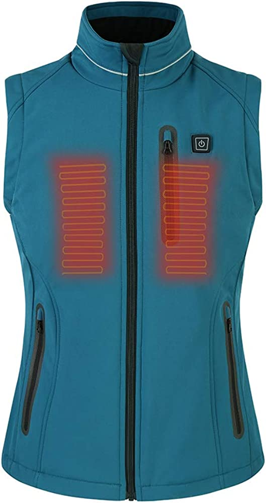 Wugongyan Women's Winter Warm Heating Clothing Electric 5V USB Charging Heated Vest