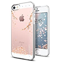 iPhone SE Case, Spigen Liquid Crystal - Slim Protection Soft Clear Case for Apple iPhone SE (2016) / iPhone 5S (2015) / iPhone 5 (2014) - Shine Blossom