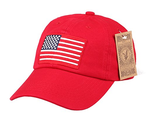 292d2833d58 RufNTop Black Eagles American Flag Cap 100% Cotton Classic Dad Hat Plain Baseball  Cap(
