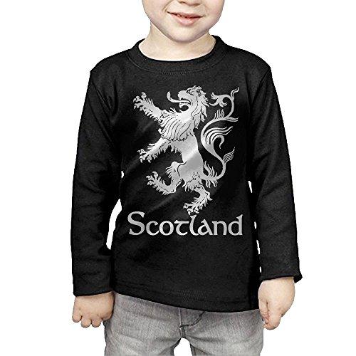 Rampant Elephant (ZheuO Boys & Girls Toddler Scottish Rampant Lion Navy Blue Soft 100% Cotton T-Shirts Unisex Black 5-6 Toddler)